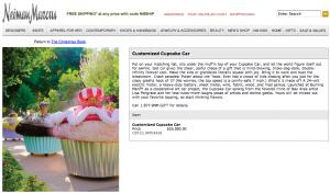 Neiman Marcus sells Cupcake Cars