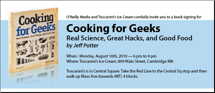 Book Signing on August 16th at Toscanini's Ice Cream