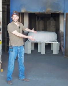 Jonathan Karsch with Jeff Potter's Monster Donut mold