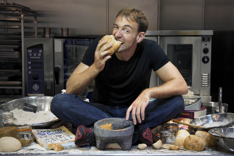 Jeff Potter eating Bread